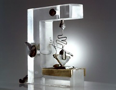 Photo, 1947 transistor, Bell Labs