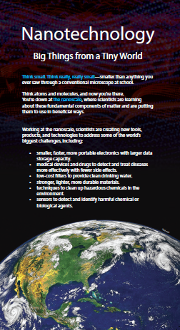 Nanotechnology: Big Things from a Tiny World brochure cover