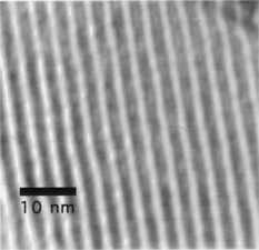 TEM image of MCM-41's straight pores