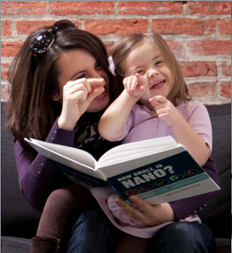 picture of a woman reading to a young girl