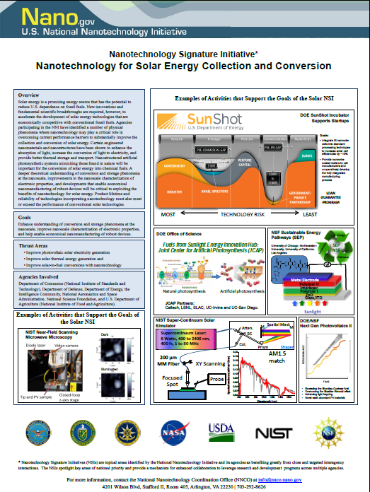 Nsi Nanotechnology For Solar Energy Collection And