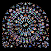 Photo, Rose window, Notre Dame Cathedral