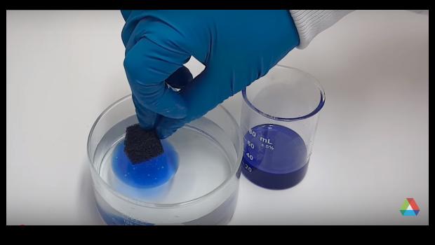 Argonne Invents Reusable Sponge That Soaks Up Oil