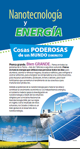 Nano and Energy brochure cover, Spanish version